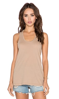 Bobi Light Weight Jersey Tank in Tea