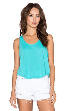Bobi Light Weight Jersey Crop Tank in Dive