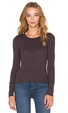 Bobi Thermal Long Sleeve Tee in Storm Cloud
