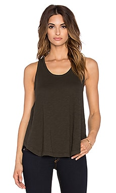 Bobi Slubbed Jersey Swing Tank in Like Army