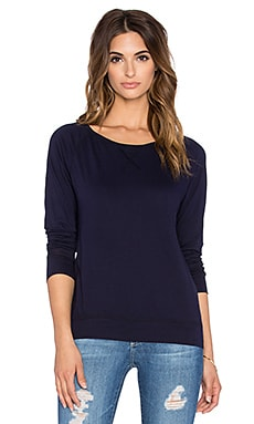 Bobi Light Weight Jersey Crewneck Long Sleeve Tee in Night Sky