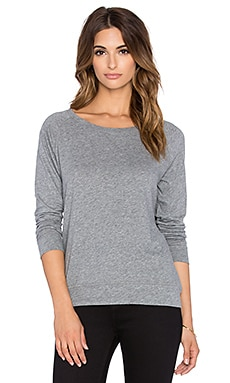 Bobi Light Weight Jersey Crewneck Long Sleeve Tee in Thunder