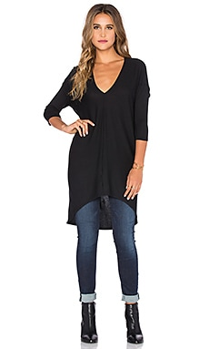 Bobi Heavy Rib Top in Black