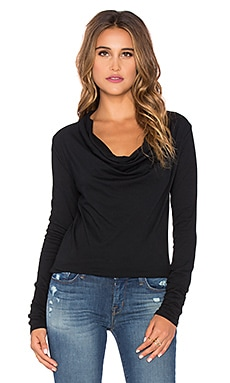 Bobi Light Weight Jersey Top in Black