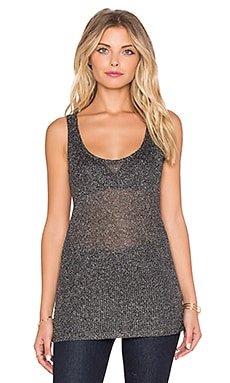 Bobi Shimmer Sweater Tank in Black