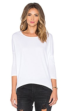 Bobi Lightweight Jersey 3/4 Sleeve Dolman in White