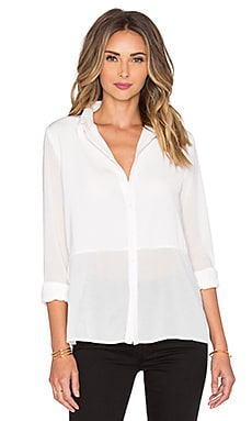Bobi BLACK Georgette Sheer Blouse in White