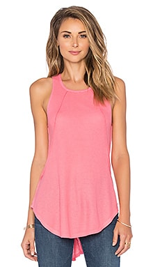 Bobi Mini Thermal Hi Lo Paneled Tank in Juicy Pink