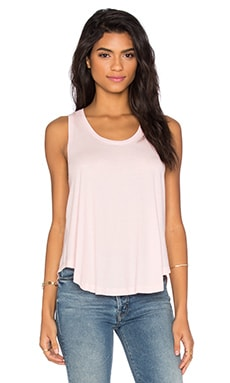 Light Weight Jersey Scoop Neck Tank in Lipgloss