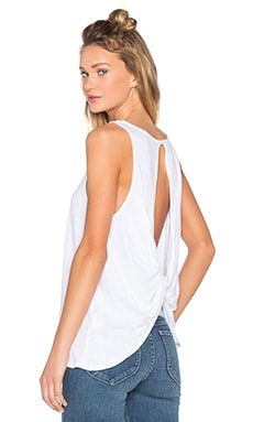 Light Weight Jersey Open Back Scoop Neck Tank en Blanc
