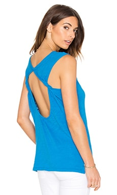 Cotton Slub Open Back Tank in Turks