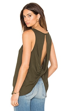 Light Weight Jersey Open Back Scoop Neck Tank in Tank