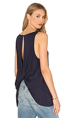 Bobi Light Weight Jersey Rolled Back Tank in Passport