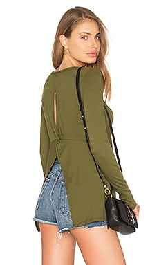 Light Weight Jersey Open Back Long Sleeve Top