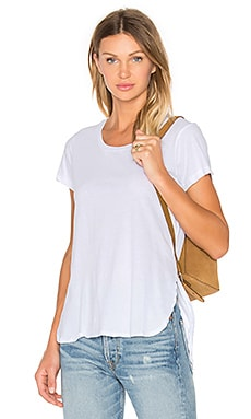 Bobi Light Weight Jersey Hi Lo Tee in White