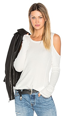 Modal Thermal Cold Shoulder Top en Hueso