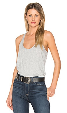 Light Weight Jersey Scoop Neck Tank in Heather Grey