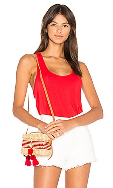 Tencel Jersey Twist Back Tank en Rouge