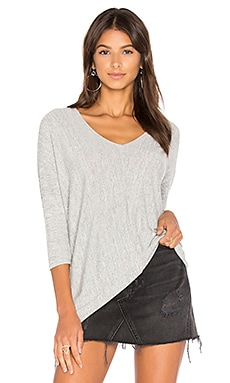Faded Dolman Sleeve Top in Grey