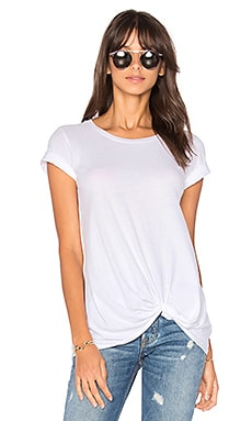 Light Weight Jersey Twist Tee en Blanc