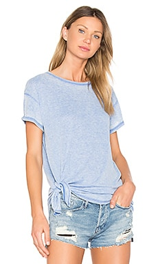 Burnout Tie Side Tee in Island