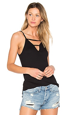 Modal Rib Cut Out Tank en Noir