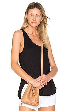 Light Weight Jersey Swing Tank in Black