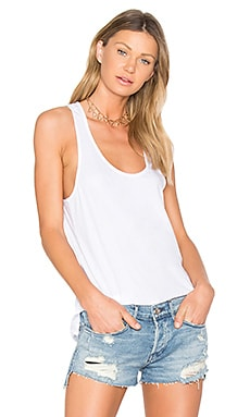 Light Weight Jersey Tank in White