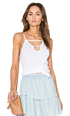 Modal Rib Cut Out Tank in White