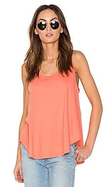 Light Weight Jersey Swing Tank in Watermelon