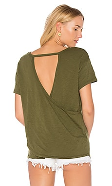 Slub Jersey Cross Back Tee