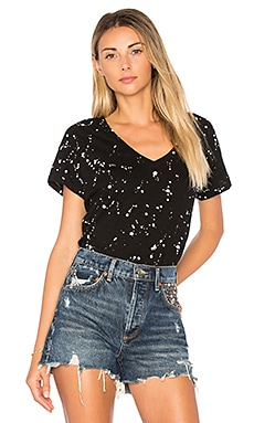 Paint Splatter V Neck Tee