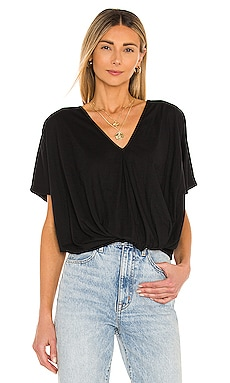 Feather Weight Jersey Knot Tee Bobi $48 BEST SELLER