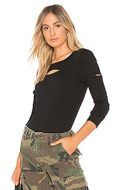 Light Jersey Cutout Top