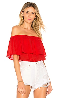 Gauze Off Shoulder Top Bobi $57 BEST SELLER