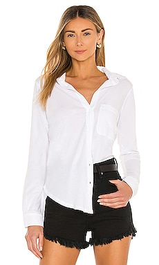 Light Weight Jersey Button Down Bobi $79
