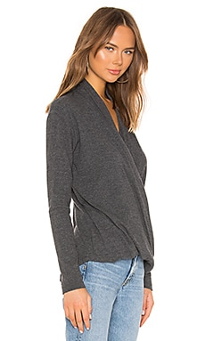 Bobi Heathered Rib Draped Blouse Coupon