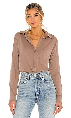 Light Weight Jersey Button Up Bobi $79 BEST SELLER