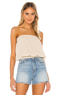 Beach Gauze Strapless Top Bobi $66
