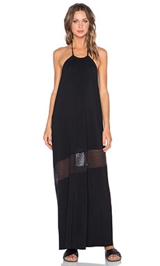 Body Language Madison Dress in Black & Black Sheer