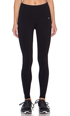 Body Language Cinch Legging in Black & Honeycomb