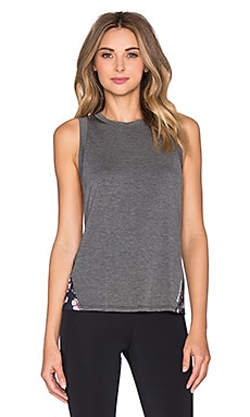 Body Language Mia Tank in Charcoal & Bouquet