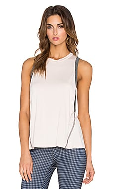 Body Language Mia Tank in Rose & Charcoal