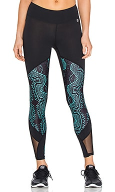 Body Language Helio Legging in Black & Atlantic