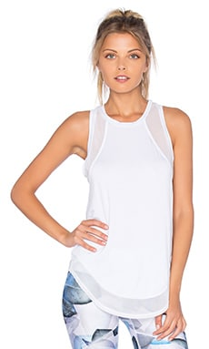 Body Language Dillion Tank in White Mesh