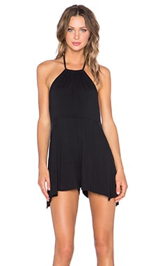 Body Language Alice Romper in Black & Mesh