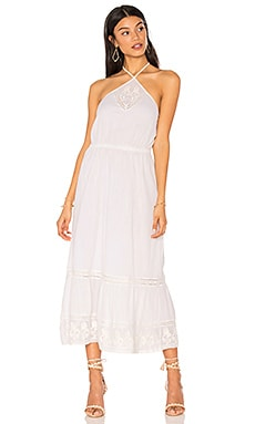 Cayo Blanco Halter Midi Dress in White