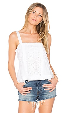 Carmen Embroidered Tank in White
