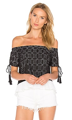 Miramar Eyelet Off the Shoulder Top