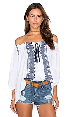 boemo Verona Tassel Top in White